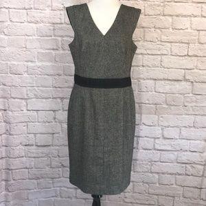 Banana Republic Black tweed sheath dress size 14